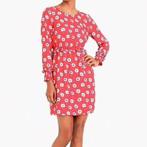 J.Crew Factory Red Longfellow Floral Dress
